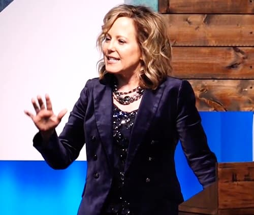 Women's speaker, Erica Wiggenhorn, Speaking Photo